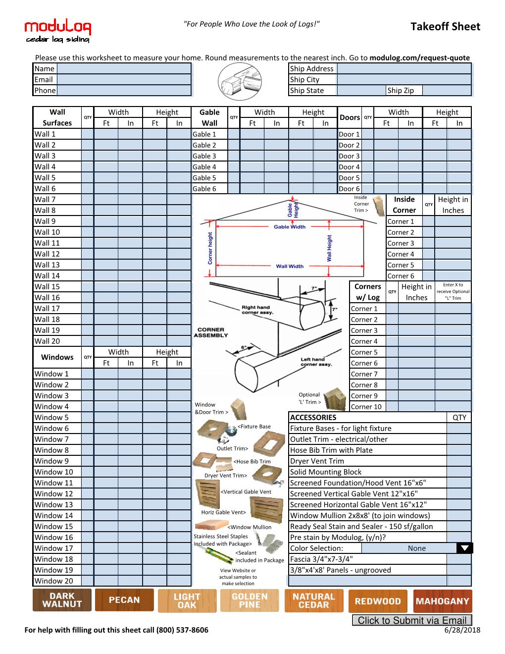 worksheet for measuring your home